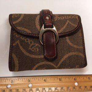 Dooney & Bourke Fabric & Leather Trifold Wallet